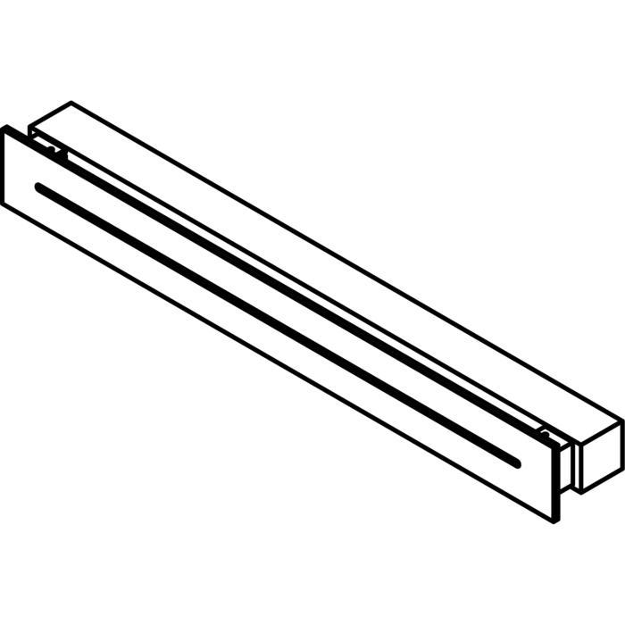 Drawing of 1771.600/.. - INDY, opbouw wandlicht - vierkant - vast - down/up - frontplaat met gleuf - met transfo