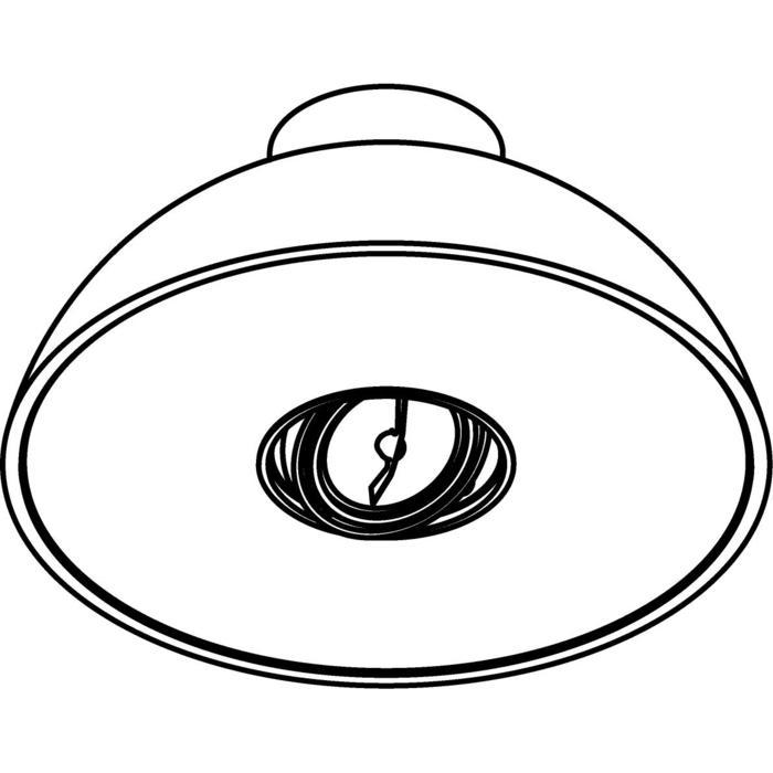 Drawing of 2488/.. - NOTRE DAME, opbouw plafondverlichting - met transfo - met electronische ballast