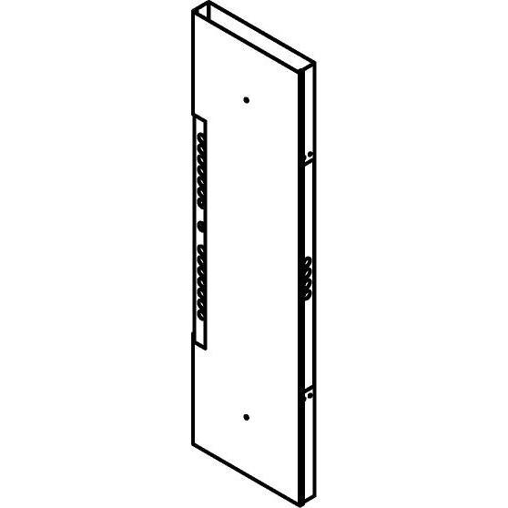 Drawing of KG02/.. - KABELGOOT TYPE II D54, kabelgoot galvanisé - onder verdeelkast met ingangen op frontplaat