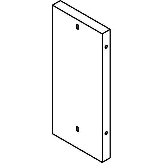 Drawing of KG06/.. - KABELGOOT TYPE VI, kabelgoot galvanisé - boven verdeelkast 76cm