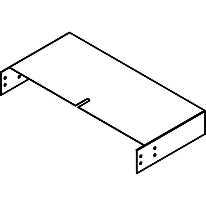 Drawing of KG13/.. - OPTIE VOOR KABELGOOT, supplement - aanpassingsstuk voor hoogteregeling