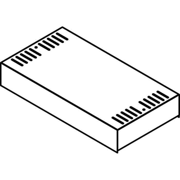 Drawing of KG09/.. - OPTIE VOOR KABELGOOT, supplement - opbouwdoos voor transfo's + chassisplaat + DIN rail