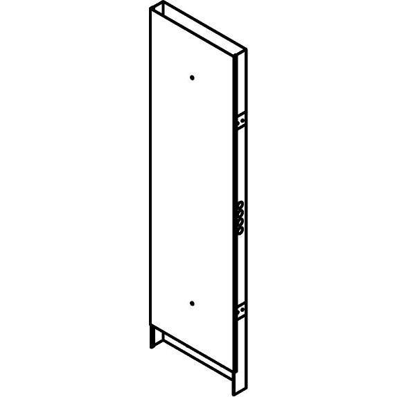 Drawing of KG03/.. - KABELGOOT TYPE III D84, kabelgoot galvanisé - onder verdeelkast met ingangen zijkant