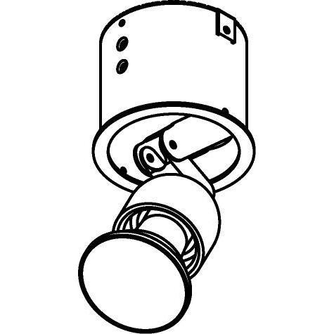 Drawing of CASJUJUC/.. - Ø80 SYSTEM, inbouwcassette - rond - richtbaar - zonder transfo