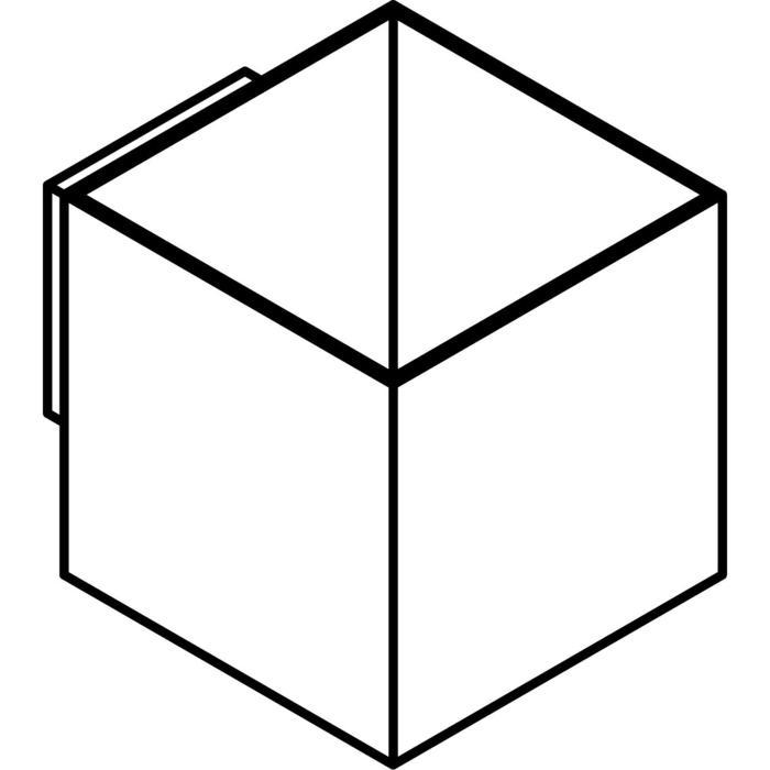 Drawing of 4029/.. - KOBUS, opbouw wandlicht - vierkant - vast - down/up